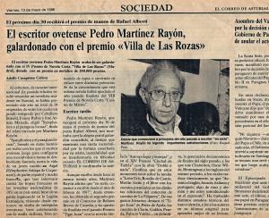Pedro Martínez Rayón, galardonado con el premio