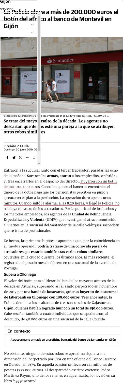 Atraco, Banco Herrero, Oviedo,